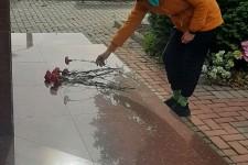 В рамках празднования 78- летия со дня освобождения Краснодарского края от немецко- фашистских захватчиков и завершения битвы за Кавказ, волонтёрами техникума были возложены цветы к Памятнику, погибшим солдатам